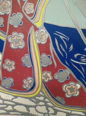 Close-up of kimono
