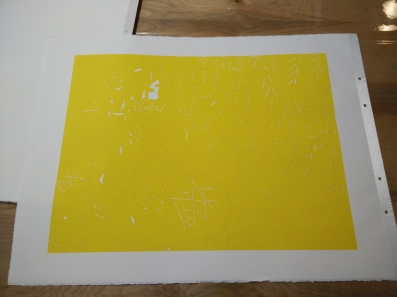 First layer: yellow